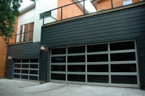 Contemporary Style Glass Garage Door St Louis Mo